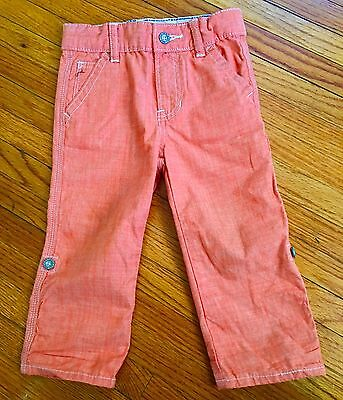 Babygap 18-24mos Toddler Boy Orange Chino Trousers Easter, Special Pants