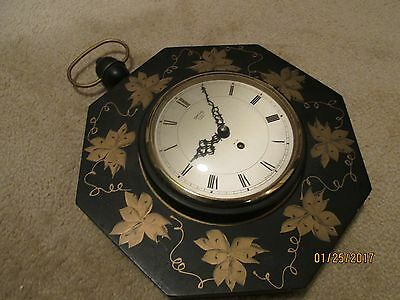 Vintage Smith's 8 Day. 4 Jewel Wall Clock Made in Britain