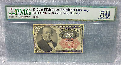 25¢ Fifth Issue Fr1308 PMG-50 Fractional Currency