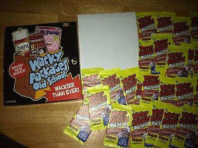 Box of 24 Unopened Packs of Topps Wacky Packages Old School 3 w poster NOSTALGIA