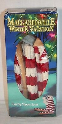 NIB Margaritaville Mukluk Knit Slipper Socks Red & White Womens Size Small (5-6)