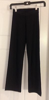 Girls Black V-Waisted Jazz Pants Style 5107C by Theatricals Size MC
