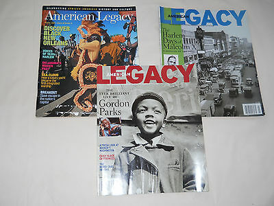 Lot of 3 American Legacy Culture Gordon Parks/Malcolm X/New Orleans
