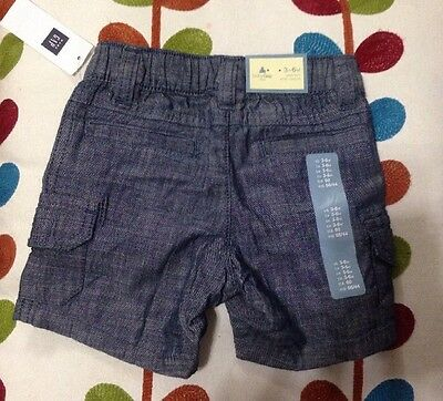 BabyGap Baby Boy 3 To 6 Months Comfortable Blue Shorts New With Tags $22.99