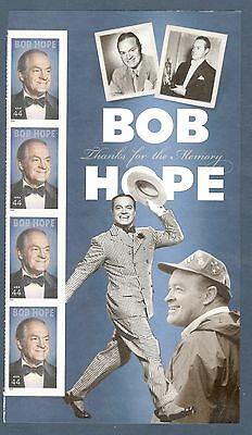 4406 Bob Hope Panel W/4 Stamps Mint/nh (Free Shipping)