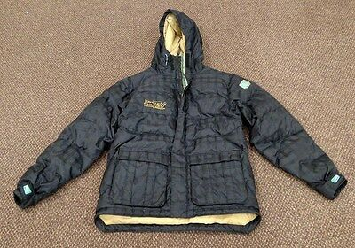 Burton Youth Black Striped Winter Coat Duck Down Lined Size XL Youth  ✞