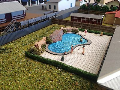 In ground Ground Swimming Pool with tiled area 130 x175 HO 1/87 Scale