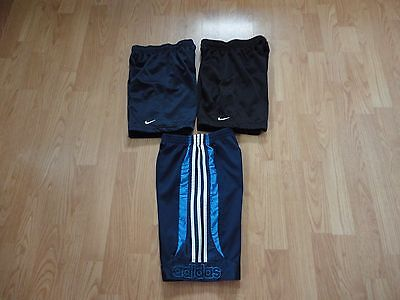 Boys Adidas and Nike lot size 7X athletic shorts