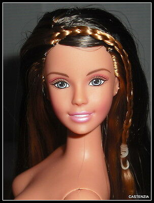 Nude Barbie Mattel  Brunette Blonde Articulated Mystery Squad Drew Doll For Ooak