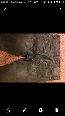Slightly Used LEVIS 511 Skinny Fit JEANS FADED BLACK 33/34