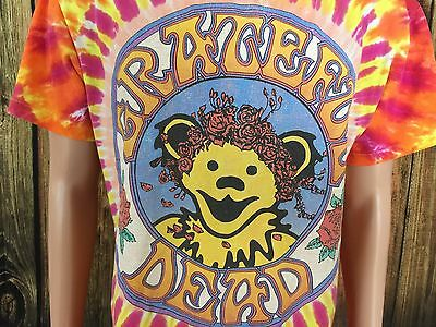 Vintage Grateful Dead 1994 Tie Tye Dyed Dancing Bear Rock T Shirt Large