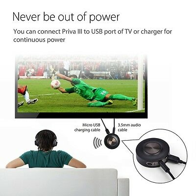 TV Bluetooth Sound Transmitter for 2 Headphones Low Latency No delay Latest Tech
