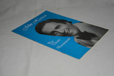 1980s Pier Theatre Bournemouth programme: JOHN HANSON - SONGS FROM THE SHOWS