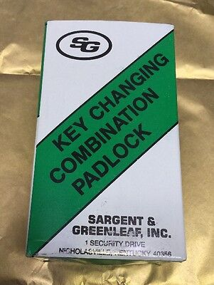 SG SARGENT & GREENLEAF 8077AD KEY CHANGING COMBINATION PADLOCK  WiTH KEY 8077