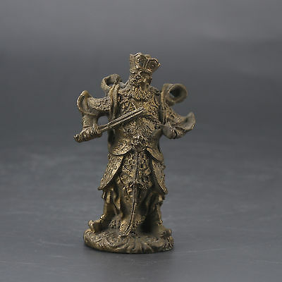 Chinese Collectable Brass Hand Carved Celestial Statue gd8638