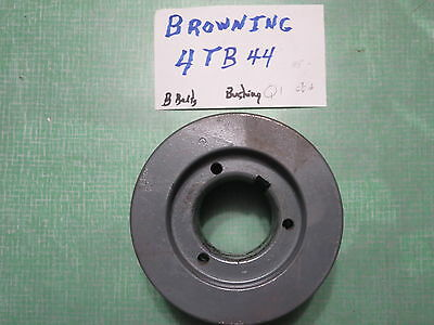"""NOS Browning 4TB44 4 groove 4.4"""" needs Q1 bushing not included sheave pulley"""