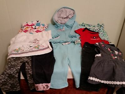 """11 PC LOT SIZE 3-6 MONTHS """"Baby Girl`s""""  MIXED SELECTION / PLAYCLOTHES"""