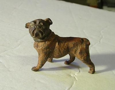 Vintage Metal Bulldog Figure Made in Germany