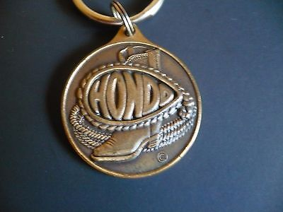 HONDO Boot Co. Round Metal Keychain Keyring