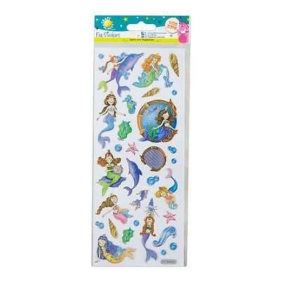 Craft Planet Childrens / Girls Fun Foiled MERMAID / MERMAIDS Stickers | A88