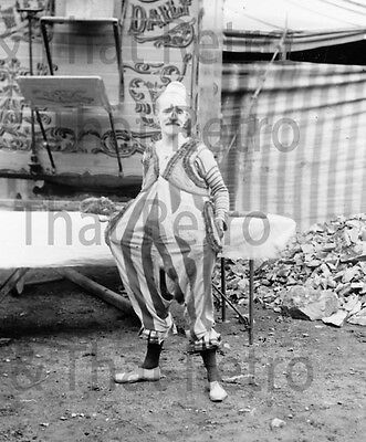 Circus Clown, vintage photo, Circa 1920's