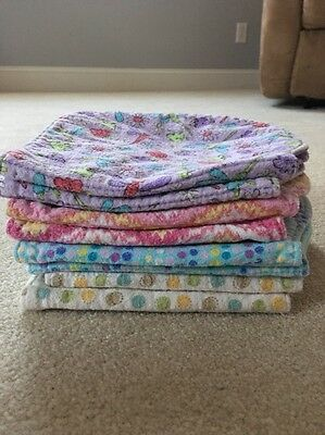 Homemade Burp Clothes Eight Pairs , Set Of Twos Pictures Show Front&Back!