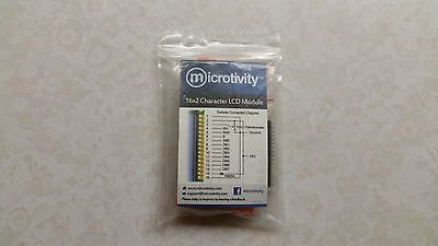 Microtivity IM161 LCD Module 1602, White on Blue with Backlight