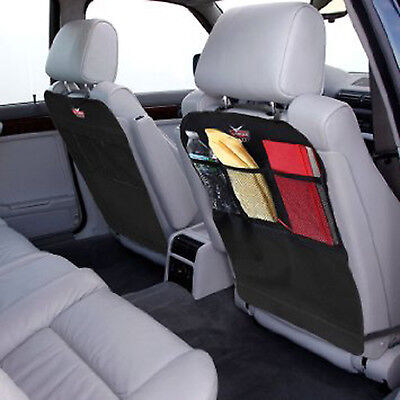 KICK MATS Car Seat Back Protector Cover Waterproof With Organizer 2 PACK SET