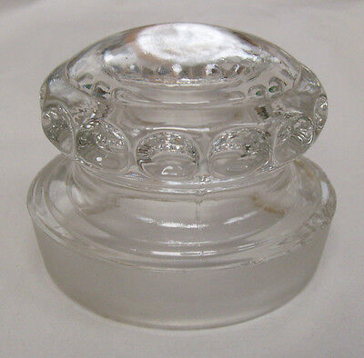 Antique Pharmacy Glass Candy Jar Lid Top Cover Stopper Apothecary Drugstore