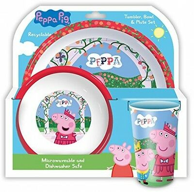 Spearmark Peppa Pig Tumbler/Bowl And Plate Set