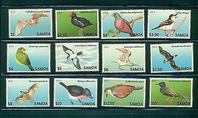 Samoa #1142-53 2013 Endangered Bats and Birds  set  VFMNH CV $68.60