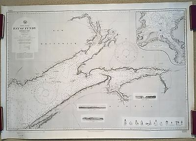 Sea Chart: BAY OF FUNDY, NORTHERN PART, 1916 edition of 1874 chart!
