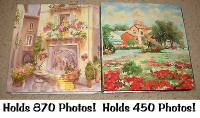 2~4x6 Photo 5-Picture Slip-In Pocket 3-Ring Binder Albums~Italian Floral Bistro