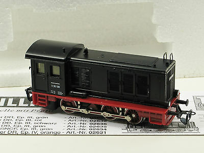 Tillig TT Scale (1:120)  Diesel Switcher Locomotive V36 DB Ep. III Black (02636)