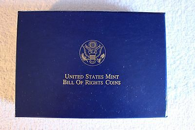 1993 Us Mint Bill Of Rights 6 Coin Commemorative Ogp Boxes And Coa ~ No Coins