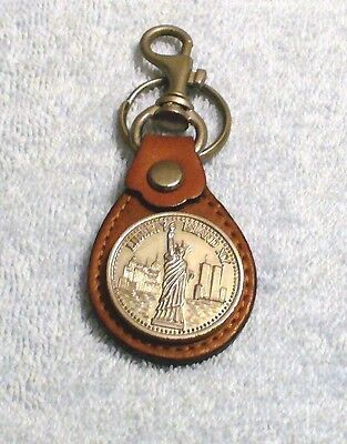 New York Souvenir Keychain Statue of Liberty Twin Towers made in Korea