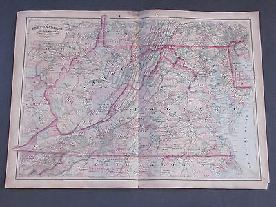 1873 Asher and Adams Virginia and West VIrgina Map