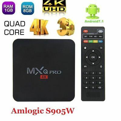 MXQ Pro 4K Android TV Box Quad Core HD Media Player Streamer 3D Wifi S905X New