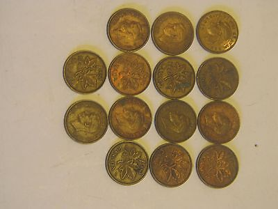 Canadian King George 6th  pennies