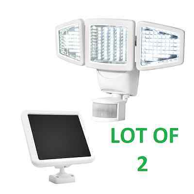 2 SunForce 150 LED Triple-Head Solar Motion Activated Security Light 1000 Lumens