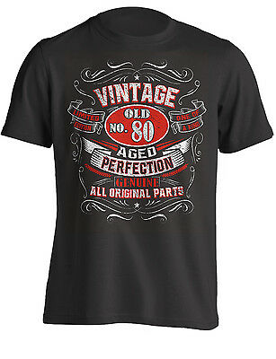80th Birthday Gift Shirt Vintage No 80 Born in 1939 | T-Shirt