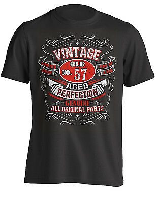 57th Birthday Gift Shirt Vintage No 57 Born in 1962 | T-Shirt