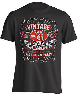 65th Birthday Gift Shirt Vintage No 65 Born in 1954 | T-Shirt
