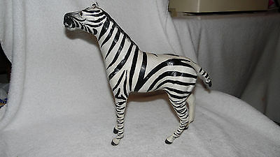 Leather Zebra Statue