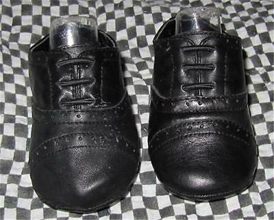 New Janie & Jack Baby Boy Black Dress Crib Shoes Size 2 Easter               0 1