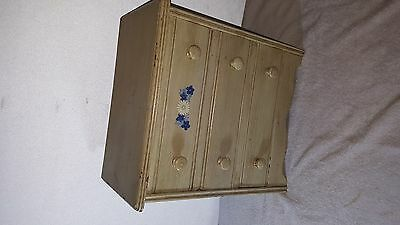 old miniature 3 drawer chest made into jewelry box