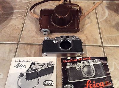 Leica III c Plus Leather Case, Papers excellent condition camera