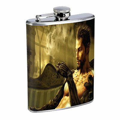Skeleton Theme D11 Flask 8oz Stainless Steel Hip Drinking Whiskey