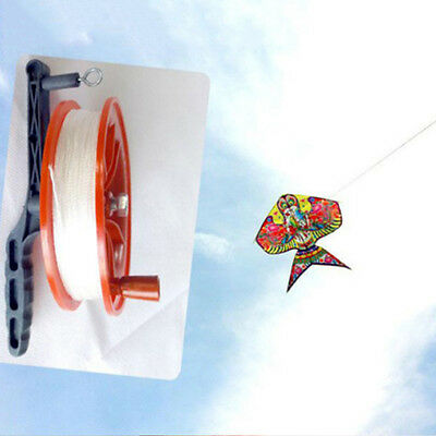Outdoor Fire Wheel Kite Winder Tool Reel Handle W/100M Twisted String Line Red