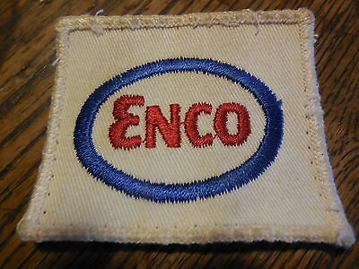 VIintage ENCO Gasoline Embroidered Uniform Patch